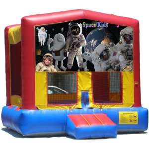 Space Bounce House Inflatable Jumper Art Panel Theme