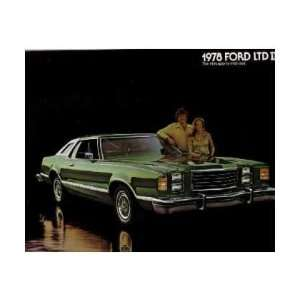 1978 FORD LTD II Sales Brochure Literature Book Piece