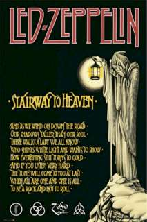 POSTER ~ LED ZEPPELIN STAIRWAY TO HEAVEN LYRICS Robert Plant