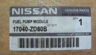 New OEM Nissan fuel pump   `03 08 Nissan Altima, Maxima Quest part