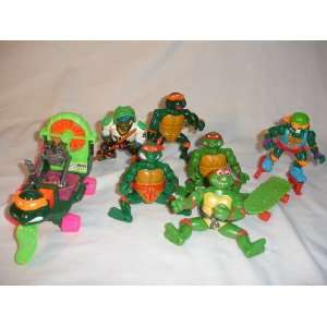 TMNT AIRBOAT,SKATEBOARD,MIKE ON SKATES