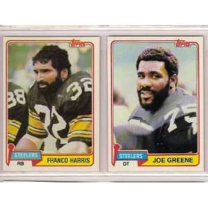Pittsburgh Steelers 1981 Topps Football (2) Card Lot