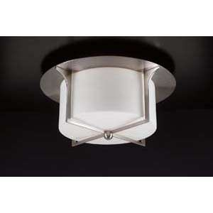 PLC Lighting 23018 Pixel Nickel Flush Mount