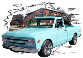 You are bidding on 1 1968 Teal Chevy Pickup Truck Custom Hot Rod