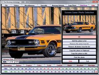 Ford Mustang Anthology 2012 DVD ROM 1500+ photos videos