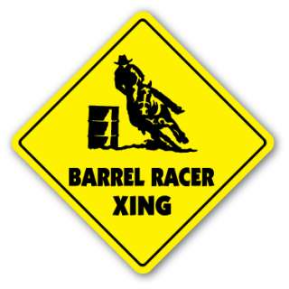 BARREL RACER CROSSING Sign new xing rodeo cowboy hat horses roping