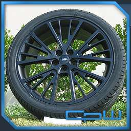 MATTE BLACK 22 INCH WHEELS RIMS TIRES PACKAGE DEAL FITS LAND ROVER