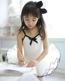 Girl White Ballet Tutu Dance Custume Leotard Dress 3 8Y