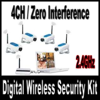 CCD Colors Cameras DVR + 4CH Wireless Receiver Security System