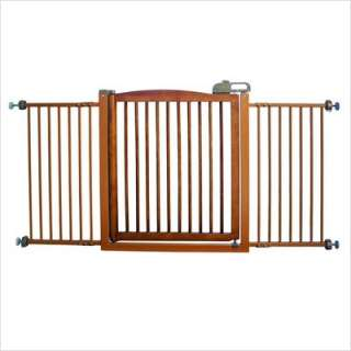 Richell Extra Wide One Touch Wooden Pet Gate Autumn Matte Finish
