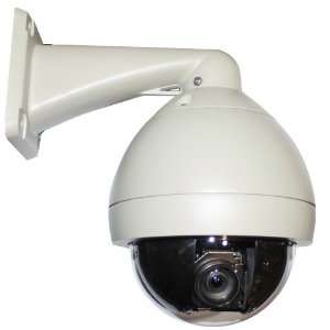 Zoom Outdoor Dome (Pan Tilt Zoom) PTZ Camera   650 TV Lines, 1/4 Sony