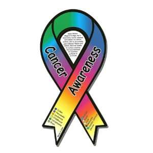 All Inclusive Cancer Awareness Ribbon Car Magnet