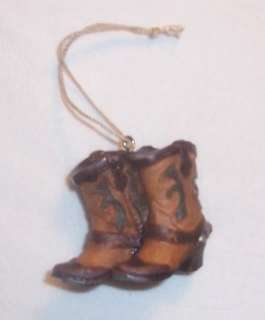 Country Western Cowboy Cowgirl Boots Ornament NEW Horse Farm Cow Kicks