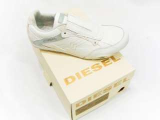 NEW IN BOX DIESEL BRAND Mens Eagle Loop White Shoes Fashion Sneakers