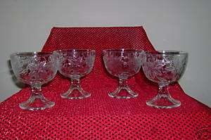 Princess House Fantasia Dessert/Holders Set of Four