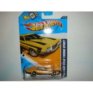 Hot Wheels Yellow Black Trim 72 1972 Ford Gran Torino Sport Muscle
