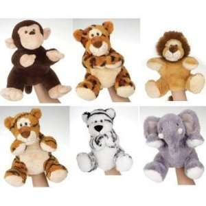 Assorted Jungle Animal Hand Puppets Case Pack 24