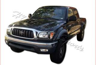 01 04 TOYOTA TACOMA BLACK HOUSING HEADLIGHTS+CORNER W/AMBER REFLECTORS