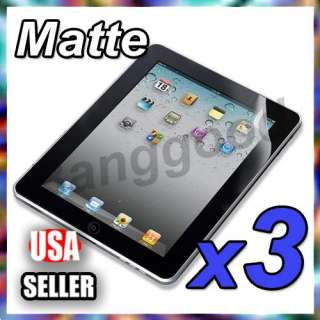 3x For ipad 2 2G 2nd Matte Anti Glare Screen Protector Film Skin
