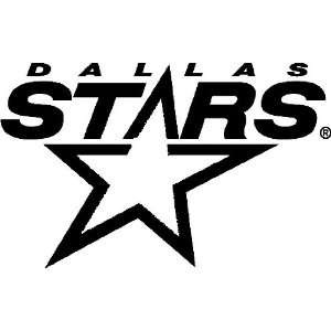 DALLAS STARS LOGO NHL WHITE DECAL VINYL STICKER