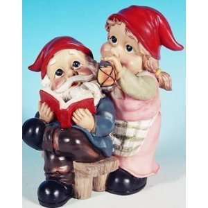 Mr + Mrs Reading Garden Gnome Statue Patio, Lawn & Garden