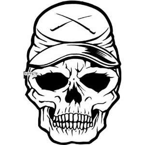 TRUCK DRIVER TRUCKER HAT SKULL WHITE VINYL DECAL STICKER