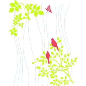 Removable Wall Decals  Birds in tree with hearts