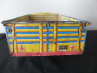 Vintage Marx Inter City Delivery Service Tin Toy Stake Truck