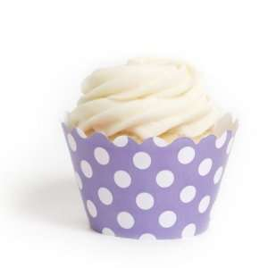 Dress My Cupcake Lavender Polka Dots Cupcake Wrappers, Set