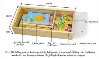 Wooden Toy Magnetic Fishing Game Kids Children Education & Creative