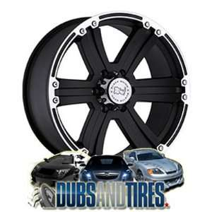 20 Inch 20x9 Black Rhino wheels Dune Matte Black w/Matte Machine Lip