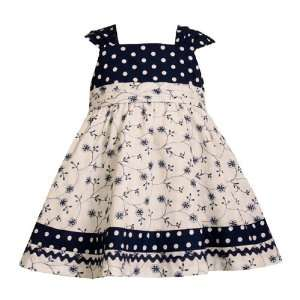 Bonnie Jean Baby/Infant Girls 12M 24M NAUTICAL NAVY BLUE WHITE FLORAL