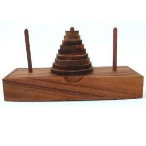 Tower of Hanoi Wooden Brain Teaser Puzzle Toys & Games