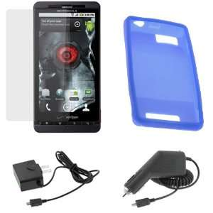 Soft Rubber Silicone Skin Cover Case + Clear LCD Screen Protector Film