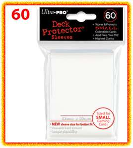 60 Ultra Pro DECK PROTECTOR Card Sleeves WHITE YuGiOh 074427826796