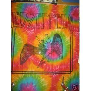 Led Zeppelin Swan Song Tie Dye Tapestry Poster 40x55