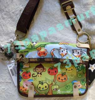 Tokidoki *FORESTA CIAO* Crossbody Bag NWT GREEN~CUTE Baby Monkey, Koi