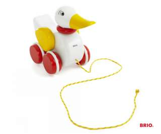 BRIO DUCK Pull Along Wooden Toy Baby/Toddler   BN