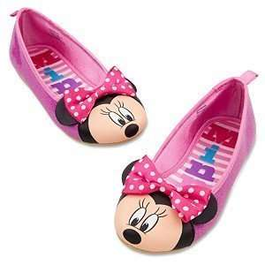 Minnie Mouse Shoes/Slippers Pink Glitter Ballet Flats