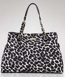 NWT Kate Spade Maryanne On The Ave Black/Cream Leopard Animal Print
