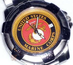 united states marine corps sports wrist watch with quartz movement