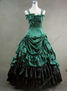 Southern Belle Satin Lolita Ball Gown Prom Dress 224 L