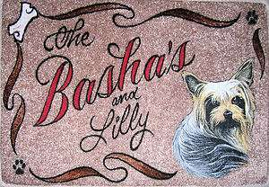 YORKIE,YORKSHIRE TERRIER,dog,door mat,personalized
