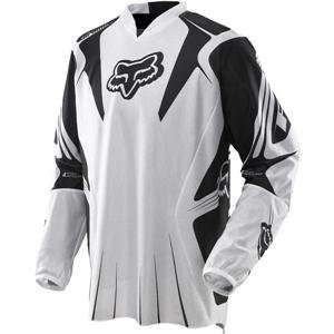 Fox Racing Airline Jersey   Large/White/Black Automotive