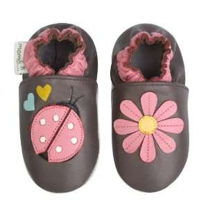 Momo Baby Soft Sole Baby Shoes   Ladybug & Lily Brown 18