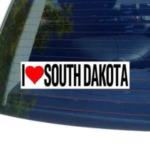 I Love Heart SOUTH DAKOTA   Window Bumper Sticker