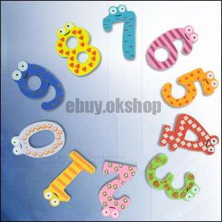 Cute Xmas Gift Set Of 10 Number Wooden Fridge Magnet