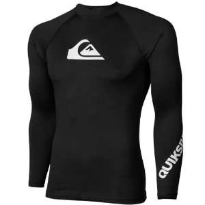 Quiksilver All Time Long Sleeve Rashguard   Black Sports