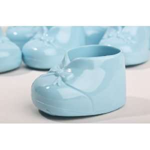 Blue Opaque Hard Plastic Baby Booties   For Boy Baby Shower Favors