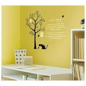 Decoration Wall Sticker Decal  Loves Secret Tree